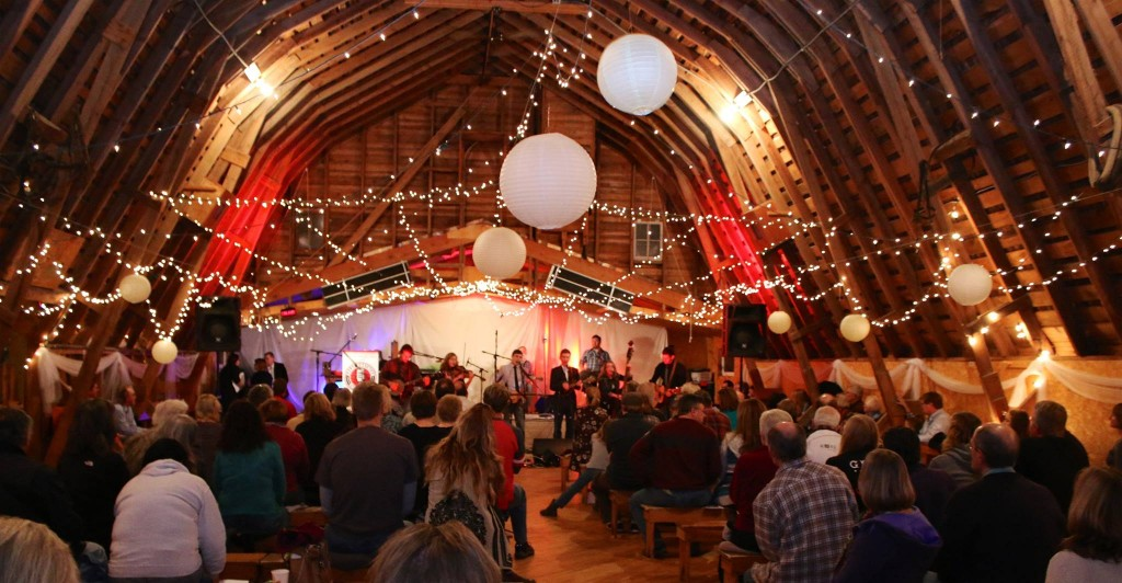 The scene from inside Larson's Barn during the Nov. 7, 2015 Great Northern Radio Show. (Grant Frashier)