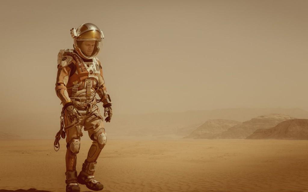 "Screenshot from Ridley Scott's ""The Martian"" starring Matt Damon based on the novel by Andy Weir."