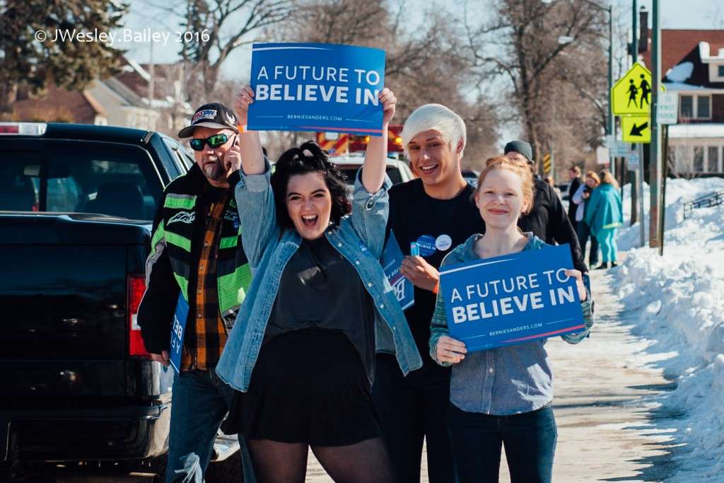 Young voters are driving Sanders enthusiasm even in a place like the Iron Range, where the populations skews older. (PHOTO: Courtney Kerns)