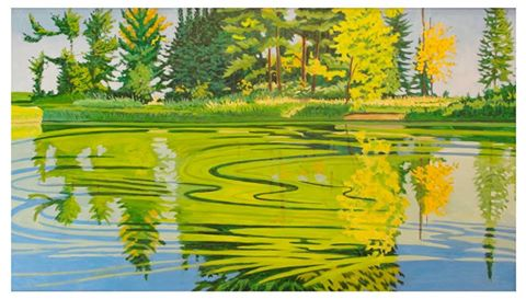 Pollen on the Water - oil on board by Scott Bean (courtesy of Lyric Center for the Arts)
