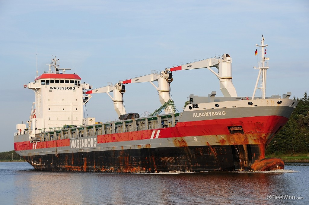 """The Dutch-flagged """"Albanyborg"""" is due to arrive in the Port of Duluth today, the first ocean-going vessel of the 2016 shipping season. The """"Albanyborg"""" will be picking up winter wheat and bringing it to Italy. (PHOTO: via Port Authority and FleetMon.com)"""