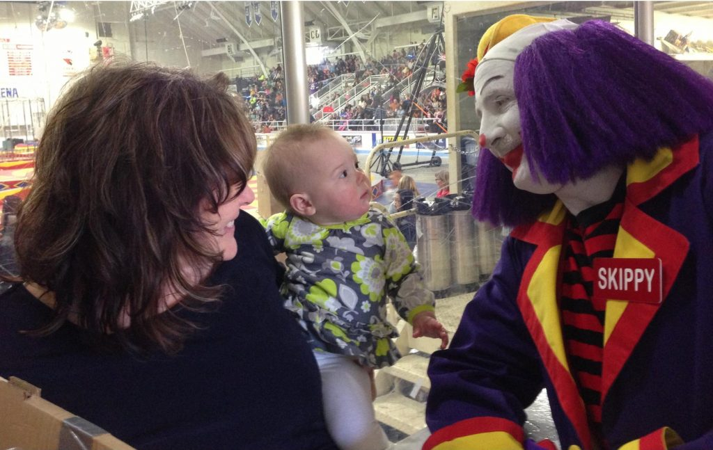 Skippy the Happy Clown will be there, confounding this year's crop of babies. (PHOTO: Range Shrine Circus FB page)