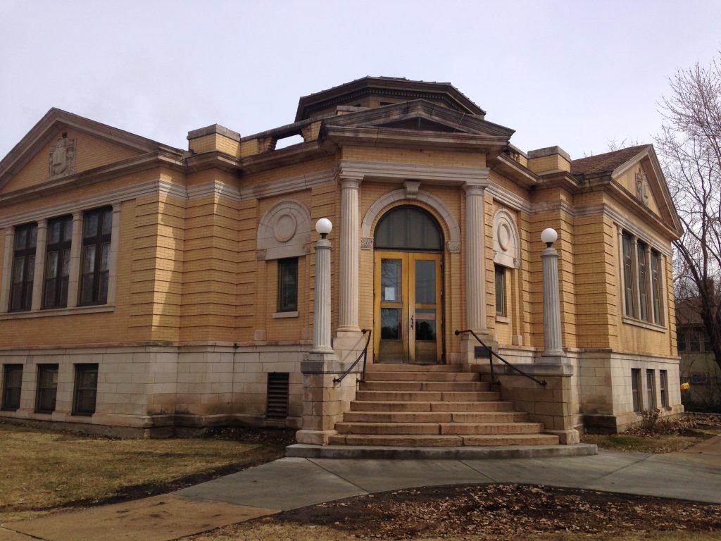 Coleraine's historic Carnegie Library. (Aaron J. Brown)
