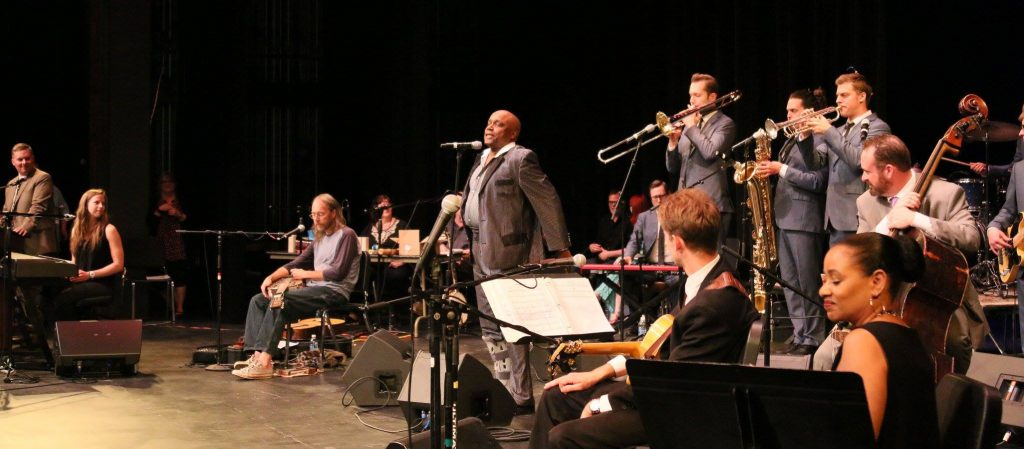 Sonny Knight and the Lakers perform during the June 18, 2016 Great Northern Radio Show at the Reif Center in Grand Rapids, Minnesota. (Grant Frashier)