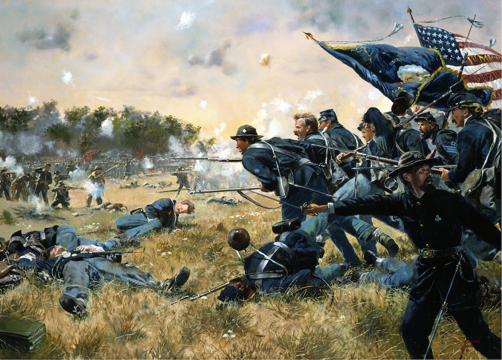 The charge of the First Minnesota volunteers at Gettysburg, Pennsylvania, July 2, 1863