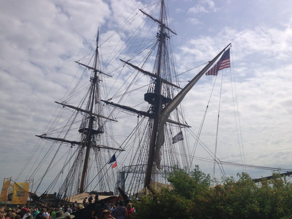 The brig USS Niagara at the Duluth Tall Ships Festival on Friday, Aug. 19, 2016