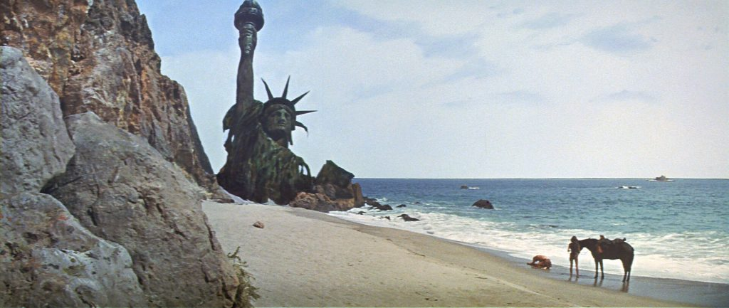 """You blew it up."" Scene from ""Planet of the Apes"" (1968)."