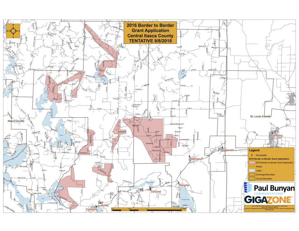 Paul Bunyan Communication 2016 state Border to Border Broadband grant proposal (Part 1)