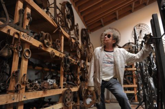Bob Dylan works in his studio. (MGM National Harbor)