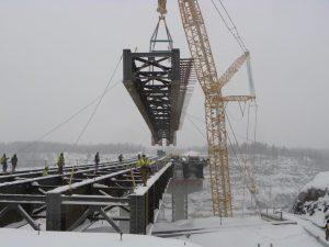 Hwy 53 bridge work spans cold Iron Range winter