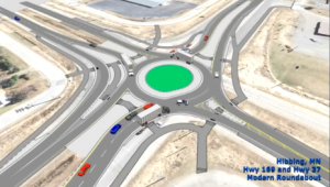 Animation depicts Hibbing's new Beltline roundabout