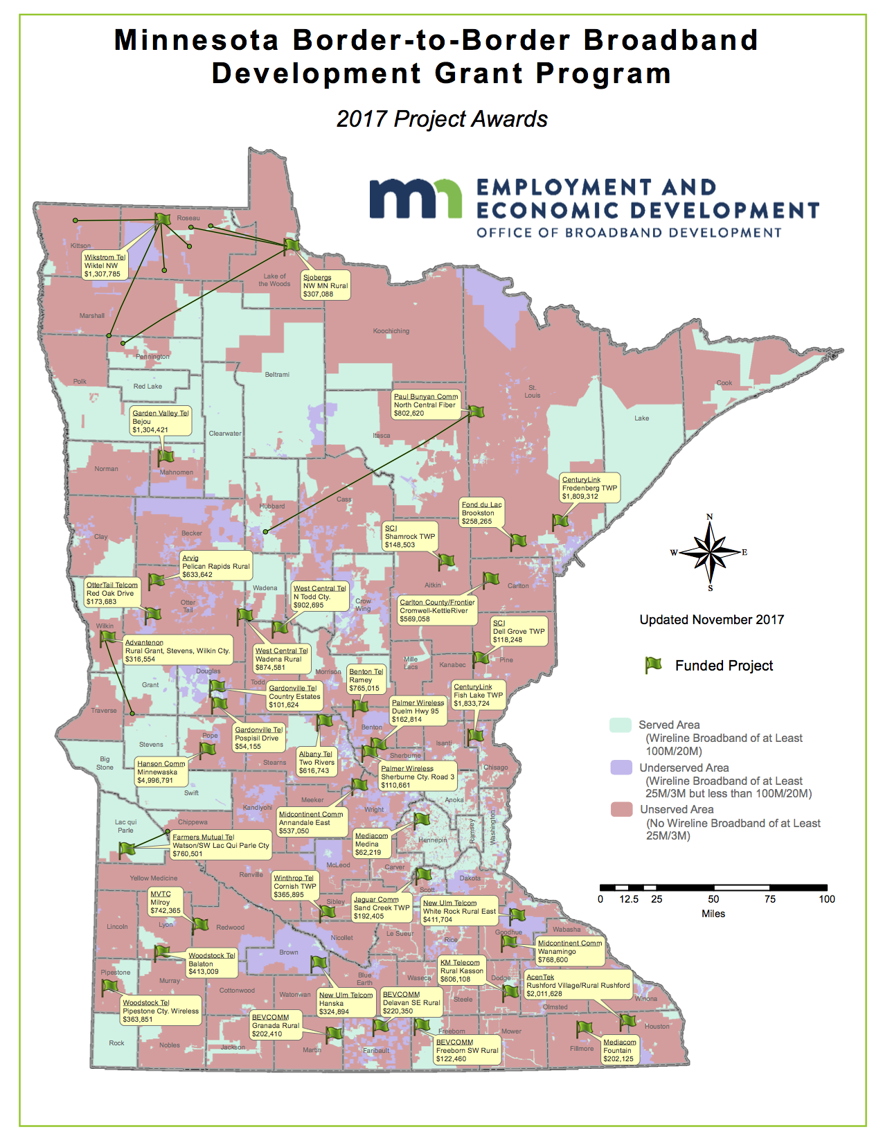 New Broadband Grants Include Northern Mn Projects Minnesota Brown