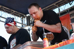 Competitive eaters pack away Indian Tacos in Tower
