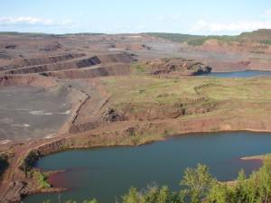 The Hull Rust Mine pit, Hibbing, Minnesota; Summer 1998