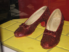 "Dorothy's ruby slippers from ""The Wizard of Oz"""