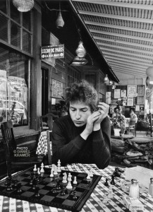Bob Dylan playing chess